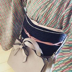 ウール着物 半幅帯 きものレッスンさくらさくら kimono