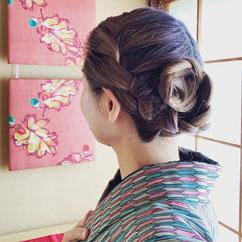 ウール着物 カジュアル きものレッスンさくらさくら kimono
