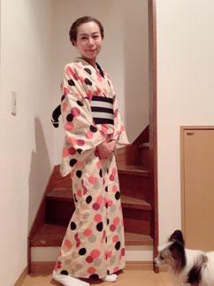 浴衣 綿着物 きものレッスンさくらさくら kimono
