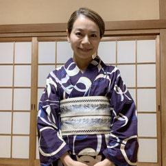 浴衣 半幅帯 きものレッスンさくらさくら kimono