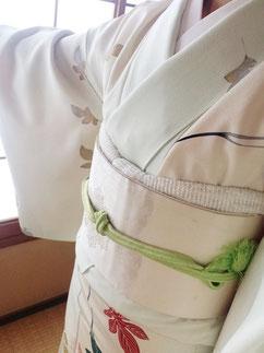 袷着物 付け下げ 着物 きものレッスンさくらさくら kimono