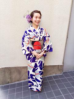銘仙 レトロ 着物 きものレッスンさくらさくら kimono