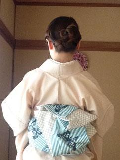 色無地 半幅帯 着物 きものレッスンさくらさくら kimono