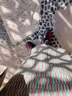 洋服ミックス ウール着物 カジュアル着物 きものレッスンさくらさくら kimono