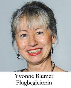 Yvonne Blumer, Flugbegleiterin