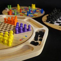 Holzspielesammlungen klassische Familienspiele