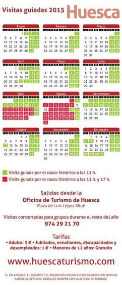 Visitas guiadas a Huesca 2015