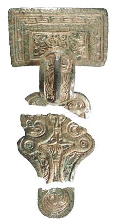 La plupart des personnes ont été enterrées avec des objets funéraires complexes comme cette broche. Crédit : University of Sheffield