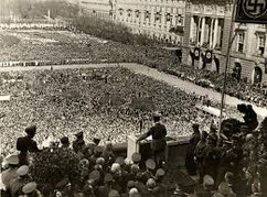 Hitler announces Anschluss in Vienna 1938