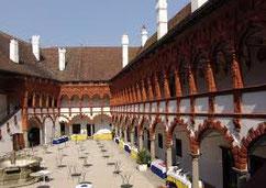 Inner court yard Schallaburg Renaissance