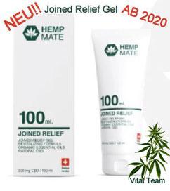 Joint Relief Gel CBD für Gelenk & Haut Kosmetiklinie HempMate Partner Vital Team