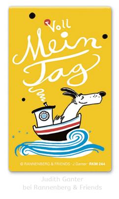 Voll mein Tag! Hund auf großer Fahrt - Judith Ganter bei Rannenberg & Friends - Magnete, Kühlschrankmagnete, , Mitbringsel Küche