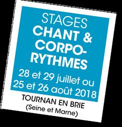 Stage de chant et corporythmes avec Hélïse et Laurent Lenoir, A vous de jouer