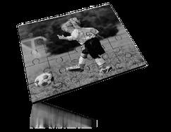 Puzzle A4 Spécial noir et blanc, cartonné 180 pièces.
