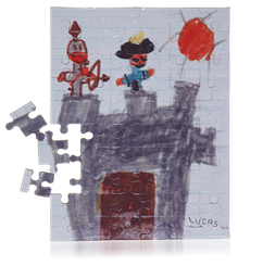 Puzzle A4 Cartonné 60,96 ou 192 pièces.
