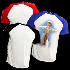 T-Shirt bicolor. rouge, bleu ou noir