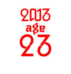 アンビグラム2013age23