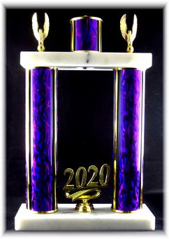 "Double Post Trophy, Top Column 7.5"" Base"
