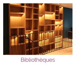 Bibliothèque sur mesure en menuiserie bois artisanale