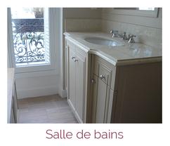 Aménagements de salle de bain en menuiserie bois artisanale