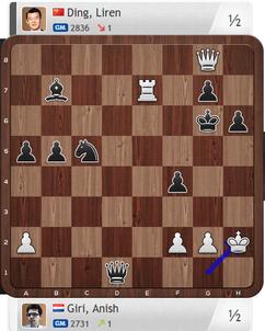 Giri-Ding, Partie 4, Magnus Carlsen Invitational