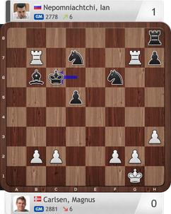 Carlsen-Nepomniachtchi, Partie 1, Magnus Carlsen Invitational