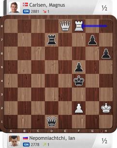Nepomniachtchi-Carlsen, Partie 2, Magnus Carlsen Invitational