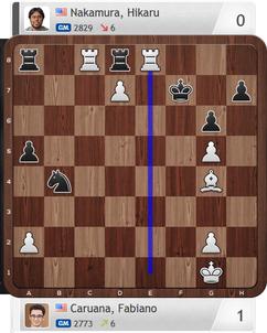 Caruana-Nakamura, Armaggedon-Partie, Magnus Carlsen Invitational