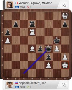 Nepomniachtchi-Vachier-Lagrave, Partie 3, Magnus Carlsen Invitational