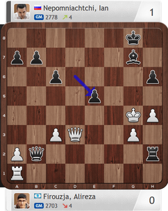 Firouzja-Nepomniachtchi, Partie 2, Magnus Carlsen Invitational
