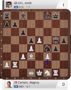 Carlsen-Giri, Partie 2, Magnus Carlsen Invitational