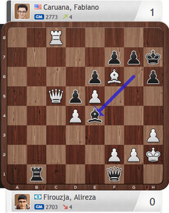 Firouzja-Caruana, Partie 1, Magnus Carlsen Invitational