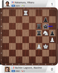 MVL-Nakamura, Partie 3, Magnus Carlsen Invitational