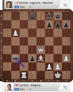 Carlsen-MVL, Partie 1, Magnus Carlsen Invitational