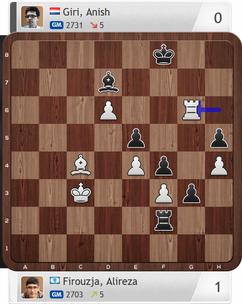 Firouzja-Giri, Partie 3, Magnus Carlsen Invitational