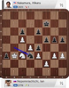 Nepomniachtchi-Nakamura, Partie 2, Magnus Carlsen Invitational