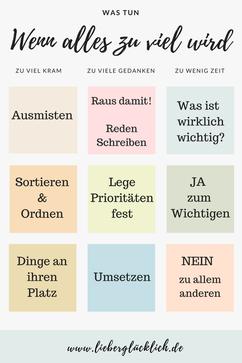 kostenloses Ebook #lieberglücklich #Ausmisten #Minimalismus #Prioritäten #Gedanken #Ebook #Lebensberatung #Berlin