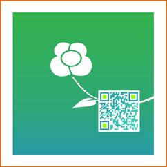 QR-Code Blumen Blüher