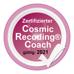 Siegel fuer zertifizierten Cosmic Recoding(R) Coach