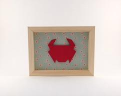 cadre origami crabe pour décoration chambre enfant