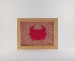 Cadre mural origami Crabe chambre enfant décoration cadeau naissance