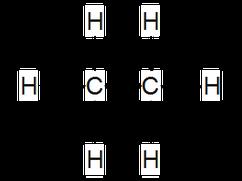 Ethan als Beispiel für Alkane in Strukturformelschreibweise