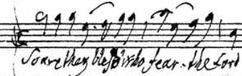 """""""Jephta"""", Schlußchor, Händels Autograph"""
