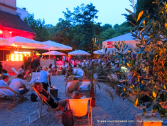 Beachbar Praterinsel Isar Munich