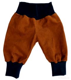 beige/blaue Pumphose für Kinder, faire Mode, Herzkind, Berlin