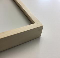 Einrahmen von Bildern; Holzrahmen Gehrung gefedert