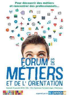 Flyer pour le Forum des Métiers 2015 par Carole Mizrahi - Effet Immediat