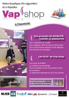Flyer pour Vap'shop par Carole Mizrahi - Effet Immediat
