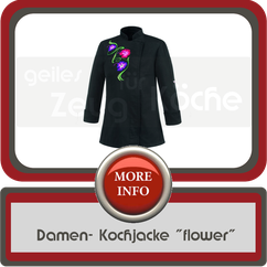 Damenkochjacke Flower