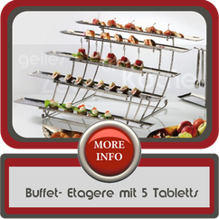 Buffet- Etagere mit 5 Tabletts